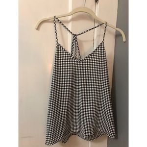 Abercrombie and Fitch strappy gingham tank